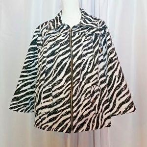 Studio Works Plus Size 3X Zebra Blazer Jacket